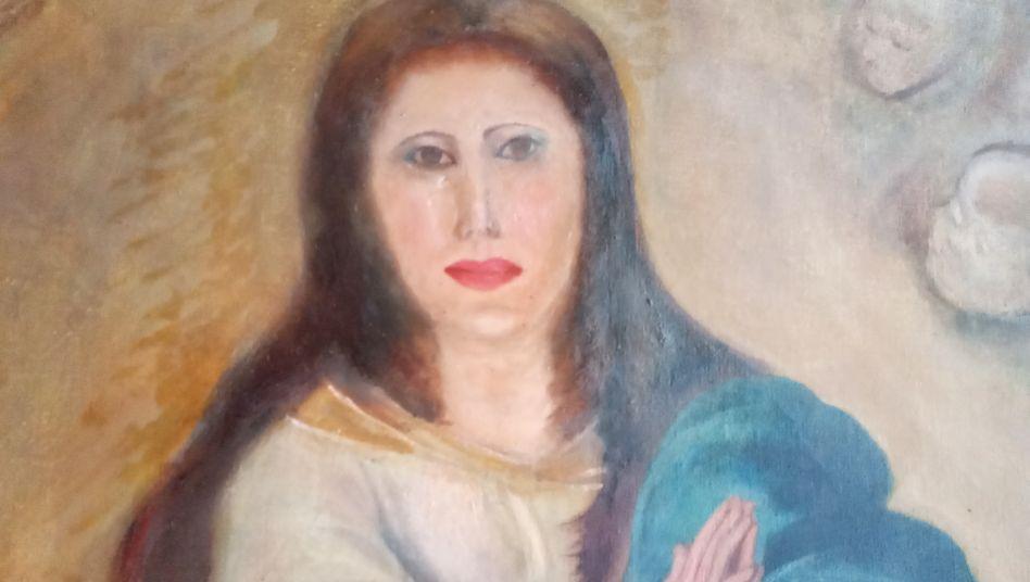 Marienbildnis nach dem Restaurierungsversuch