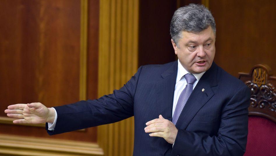 Präsident der Ukraine, Poroschenko: Will prorussischen Separatisten die Gelegenheit geben, ihre Waffen niederzulegen