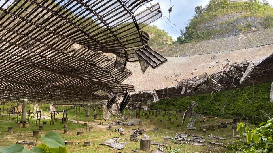 Schaden am Arecibo-Observatorium in Puerto Rico