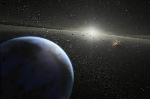 Asteroidengürtel (Zeichnung): Kosmischer Irrläufer verfehlt Erde nur knapp