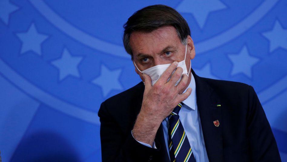 Bolsonaro Mitte Juni in Brasília: Der Präsident spielt die Pandemie weiter herunter