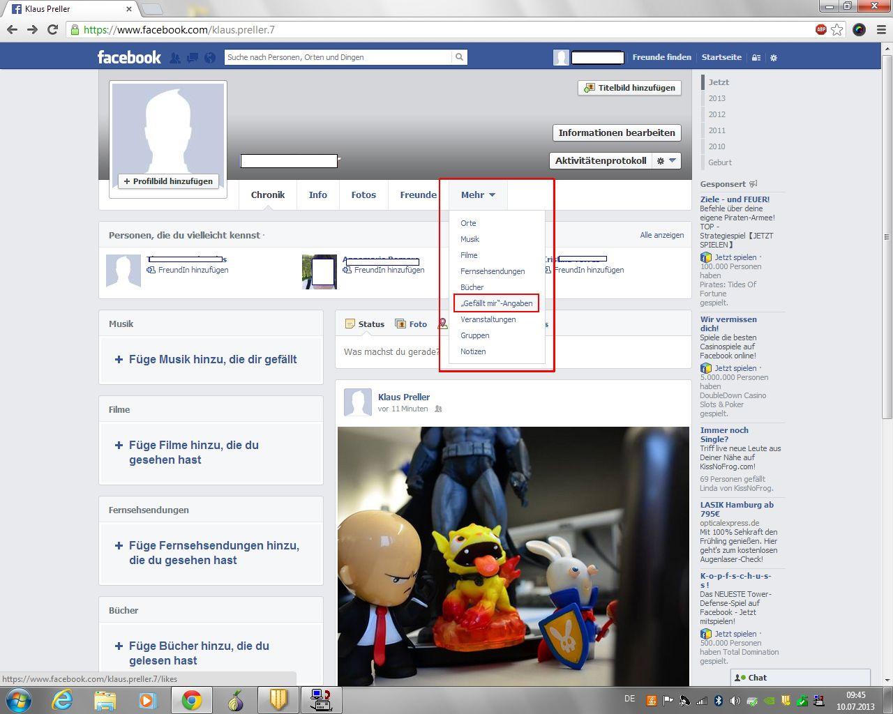 SCREENSHOT 04 Facebook/ Gefälltmirprofil