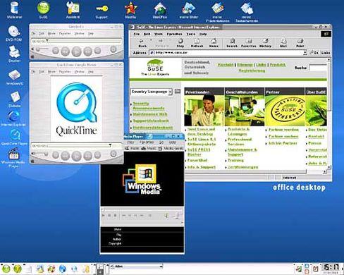 """Linux-KDE-Arbeitsfläche: """"Expertensystem"""" im Gewand von Windows oder Apple"""