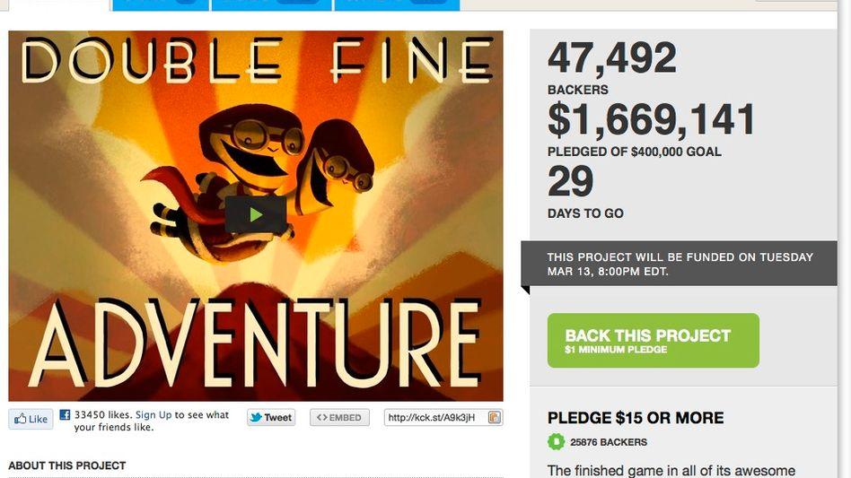 Double Fine: Im Oktober 2012 soll Tim Schafers neues Grafik-Adventure fertig sein