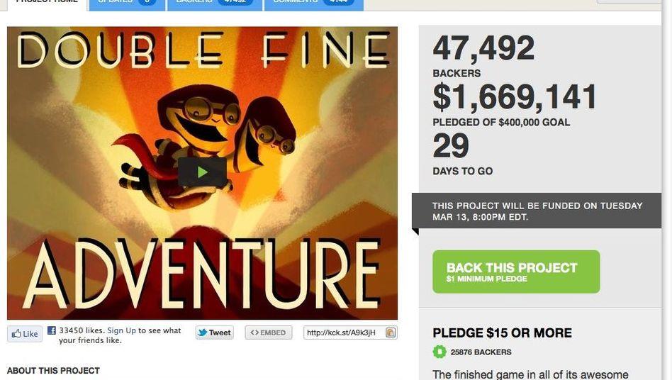 Double Fine: Im Oktober 2012 soll Tim Schafers neues Grafikadventure fertig sein