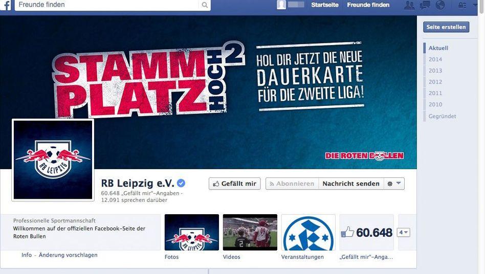 Neues RB-Leipzig-Logo (Screenshot): Drittes Wappen seit 2009