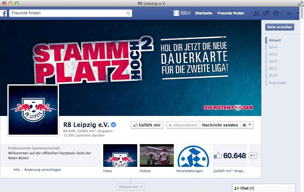 NUR ALS ZITAT Screenshot RB Leipzig