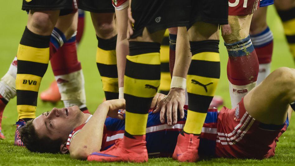 Bayern-Star Lewandowski: Einsatz gegen Barcelona fraglich