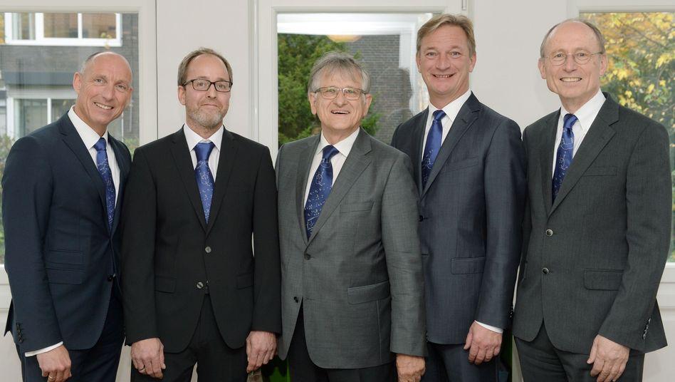 Preisträger Florian Schaller (li.) und Preisstifter Klaus von Klitzing