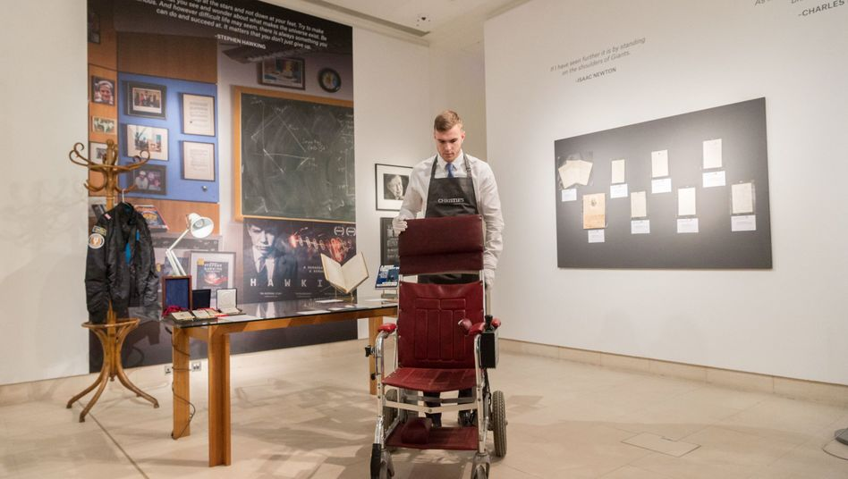 Rollstuhl des verstorbenen Physikers Stephen Hawking