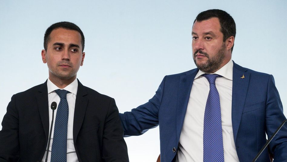 Koalitionspartner Di Maio, Salvini