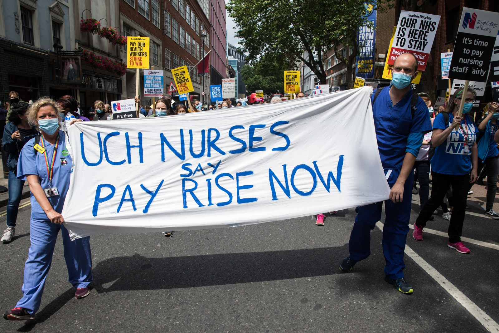 NHS 73rd Birthday Day Of Action London
