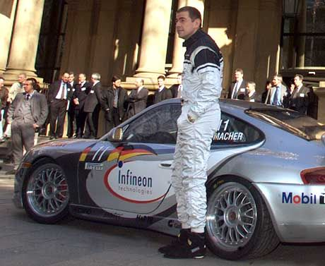 Schumacher beim Börsengang 2000: Exzentrischer Charakter