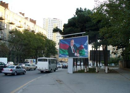Azerbaijan's former leader, Heydar Aliyev, still looms over his country's politics. He died in 2003.