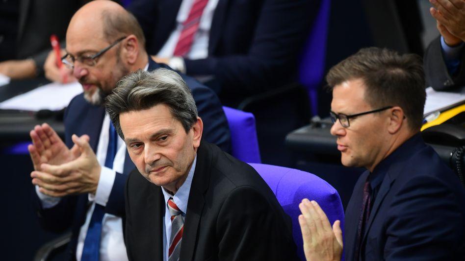 SPD-Politiker Martin Schulz, Rolf Mützenich, Carsten Schneider