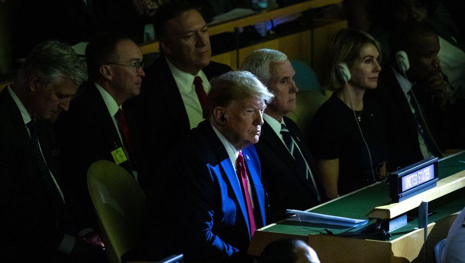 Donald Trump beim Klimagipfel in New York
