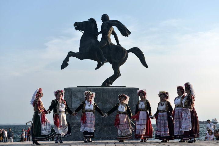 Statue Alexanders des Großen in Thessaloniki