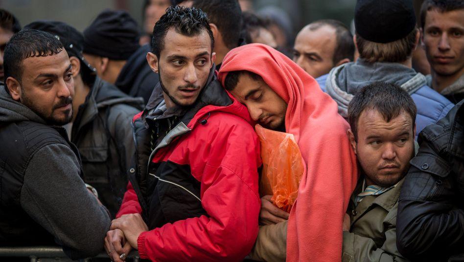 Flüchtlinge in Berlin: Warten auf die Registrierung