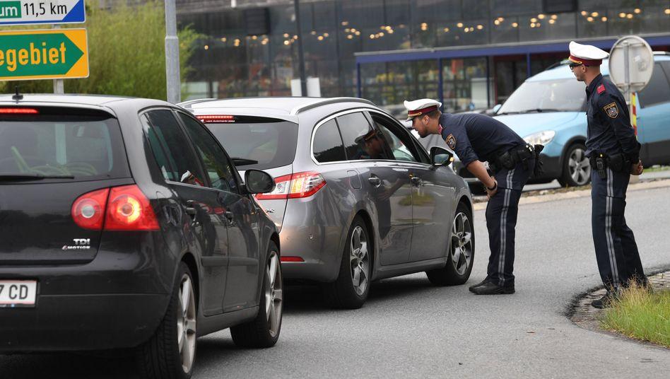Österreichische Polizeikontrolle
