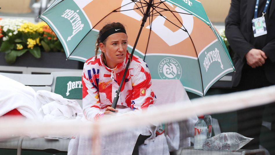 Nicht ganz glücklich mit den Bedingungen: Tennisstar Victoria Azarenka