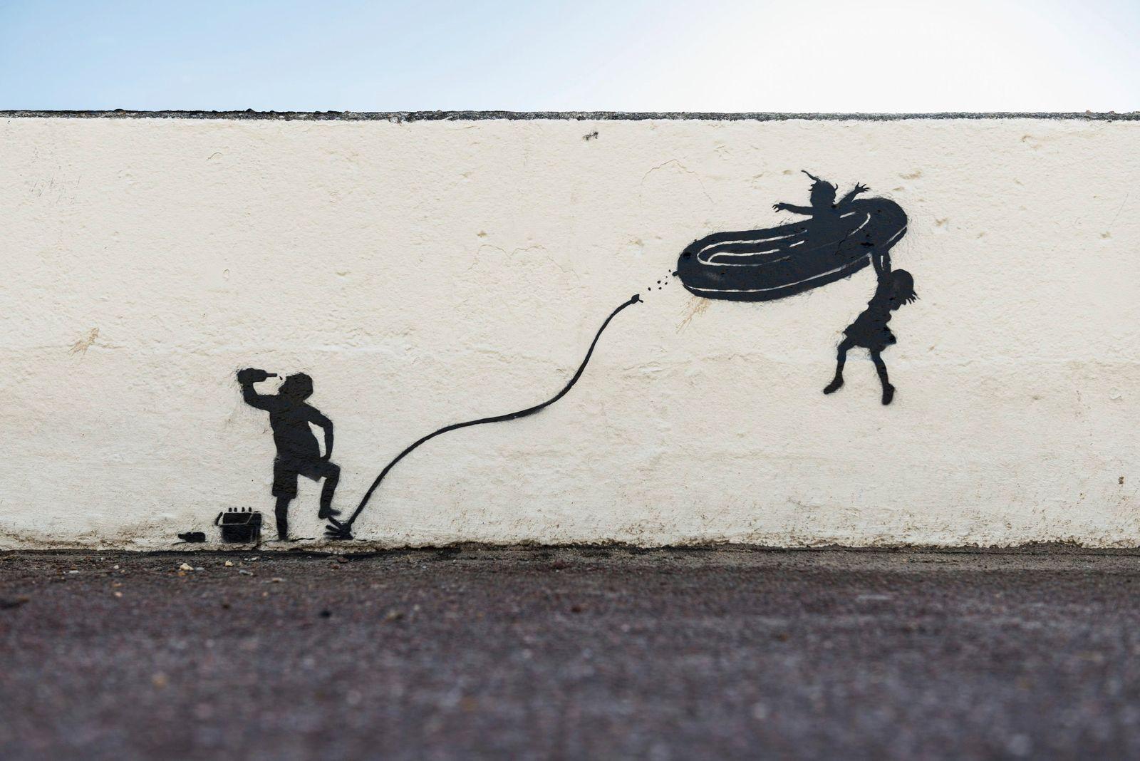 Banksy-Kunstwerk in Gorleston