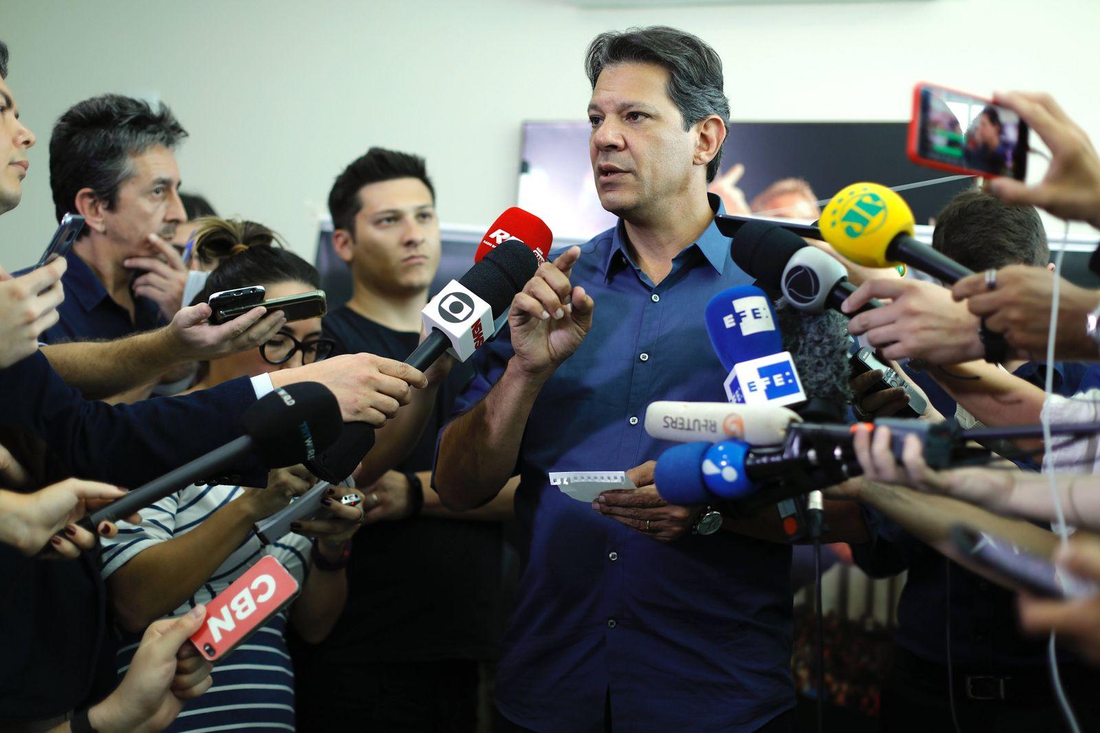 EINMALIGE VERWENDUNG Brasilien/ Wahlen 2018/ WhatsApp