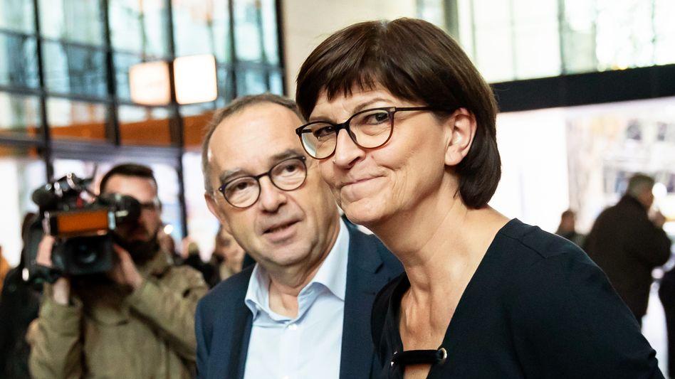 Norbert Walter-Borjans und Saskia Esken: Bizarrer Spott