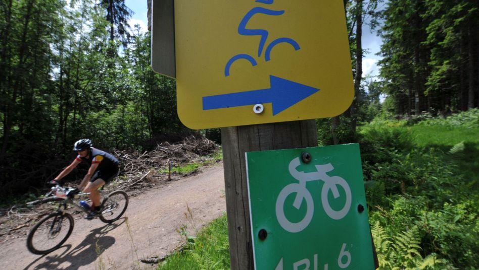 Mountainbike-Fahrer im Schwarzwald: Gefährliche Fallen auf Trails