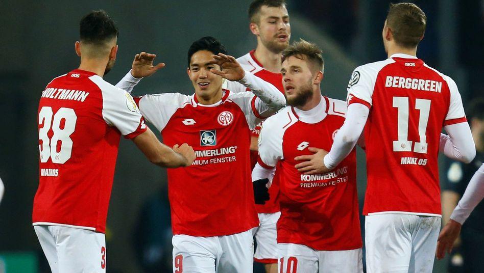 Mainzer Jubel gegen den VfB Stuttgart