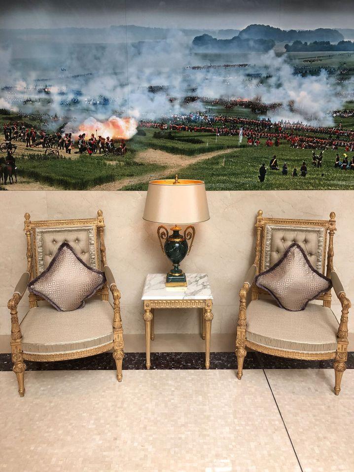 Wandbild der Schlacht von Waterloo: Aufstieg und Fall von Imperien