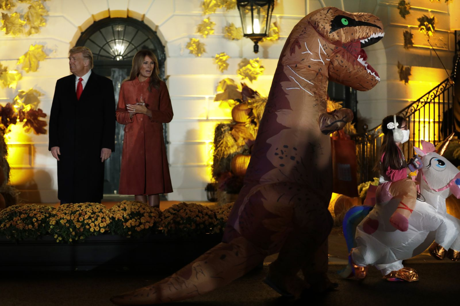 US President Trump hosts a Halloween event at the White House, Washington, USA - 25 Oct 2020