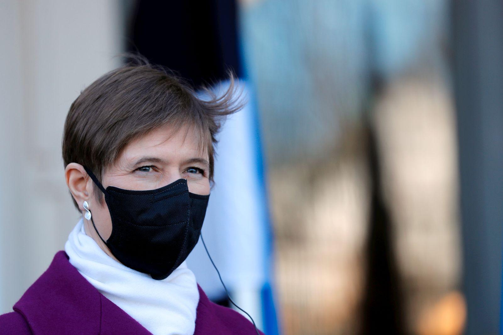 Estonian president Kersti Kaljulaid visits Latvia