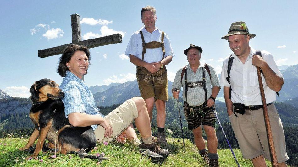 CSU-Politikerin Aigner im August bei Almbegehung mit Bergbauern: »Eine schwierige Gratwanderung«