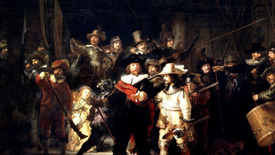 """""""Die Nachtwache"""" (1642) von Rembrandt (1606-1669)."""