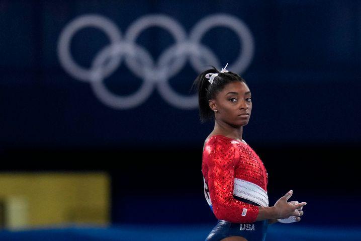 Simone Biles während des Finales am Dienstag