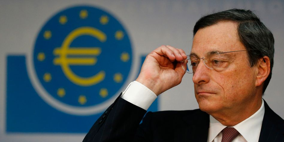 At odds with German Finance Minister Wolfgang Schäuble: ECB President Mario Draghi.