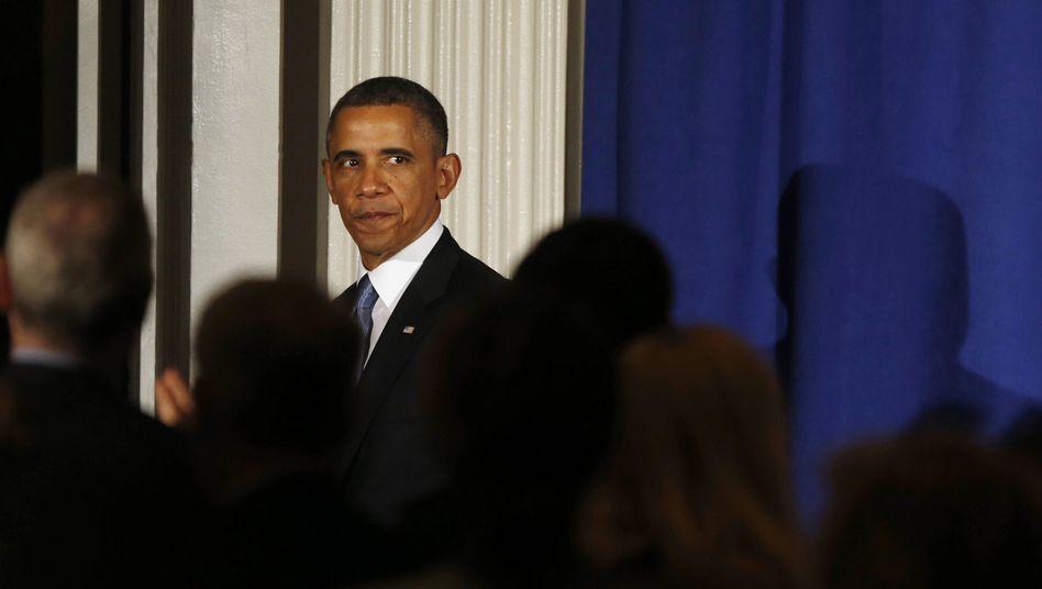 Barack Obama (bei einem Auftritt in New York): Auf Kriegsfuß mit den Medien