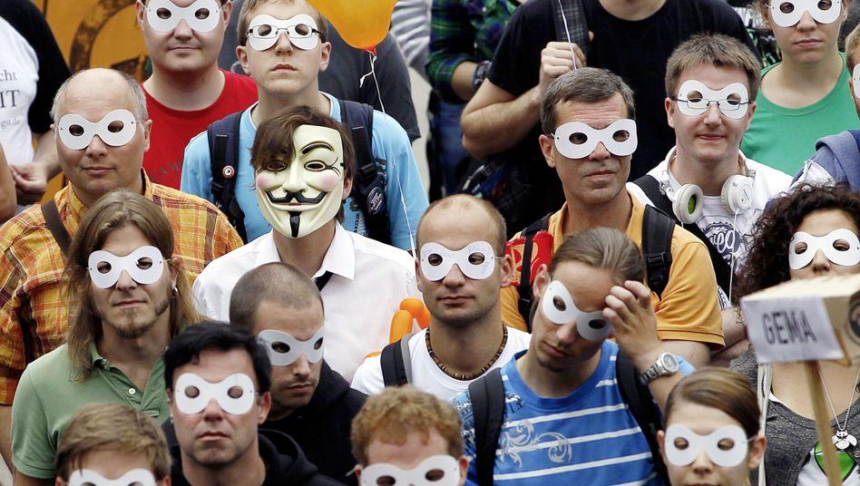 """""""Freiheit statt Angst""""-Demo in Berlin: Demonstranten gegen Vorratsdatenspeicherung"""