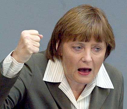 CDU-Chefin Merkel: Haushalt soll ohne höhere Merhwertsteuer aufgebessert werden
