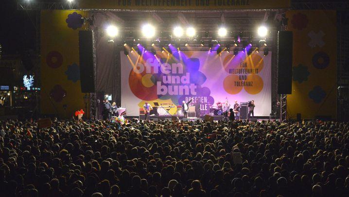 Anti-Pegida: Dresdner feiern Bürgerfest für mehr Weltoffenheit