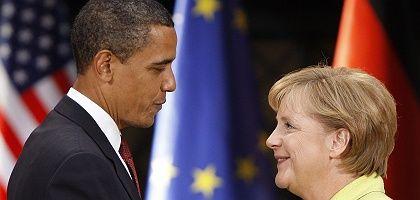 Obama und Merkel: Seine Waffe ist die Gelddruckmaschine