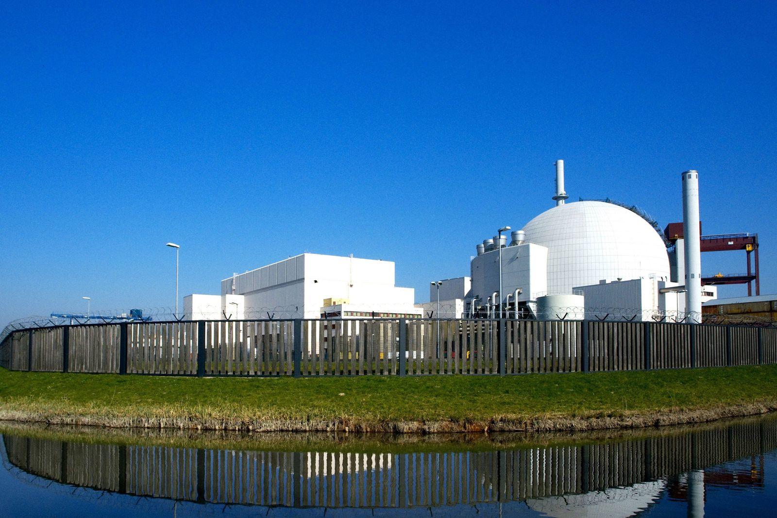 EINMALIGE VERWENDUNG Kernkraftwerk Brokdorf