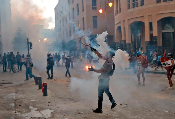 Demonstranten in Beirut: Verhindern die Eliten die Reformen?