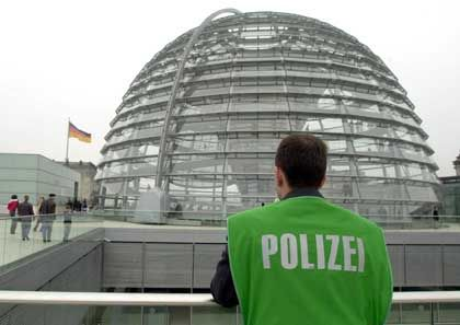Besucherterrasse auf dem Reichstag: Angespannte Sicherheitslage