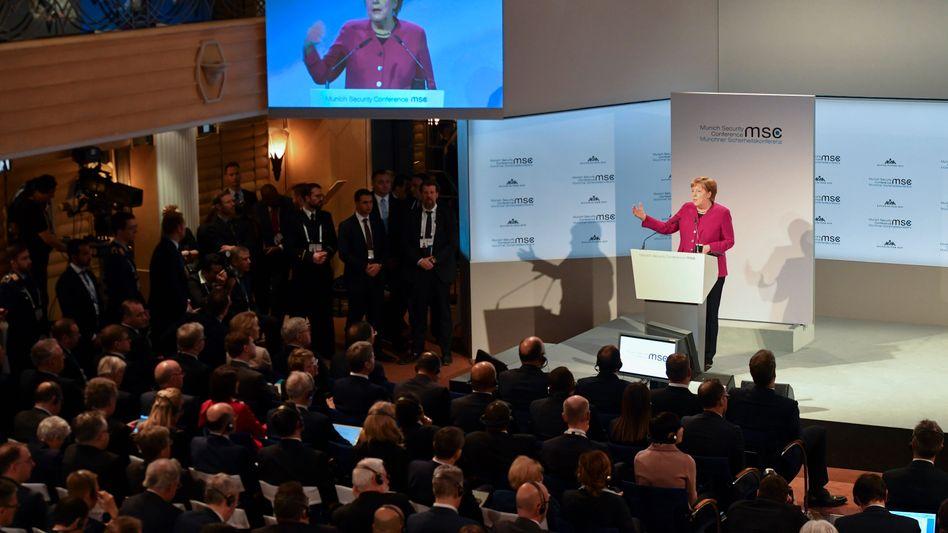 Angela Merkel auf der Münchner Sicherheitskonferenz
