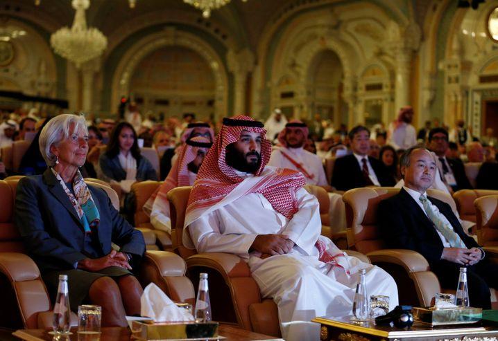 IWF-Chefin Lagarde, Kronprinz Salman bei Investorenkonferenz in Riad 2017
