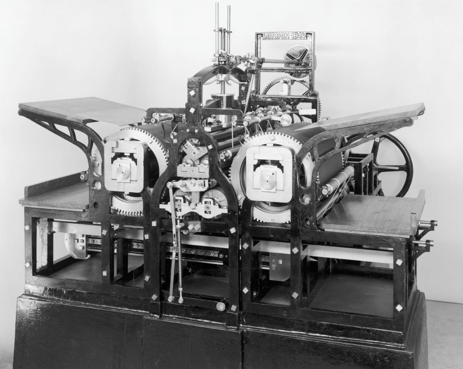 Koenig and Bauer machine printing press, 1814.