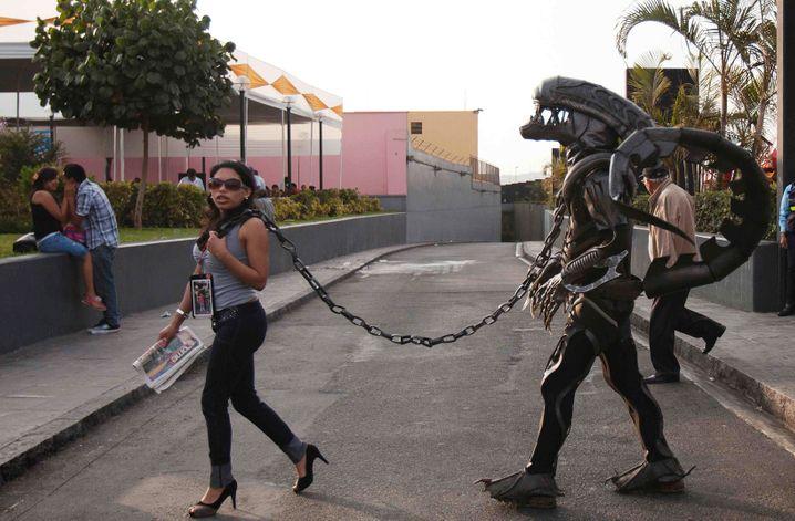 Alien-Kostüm in Lima, Peru (2013)