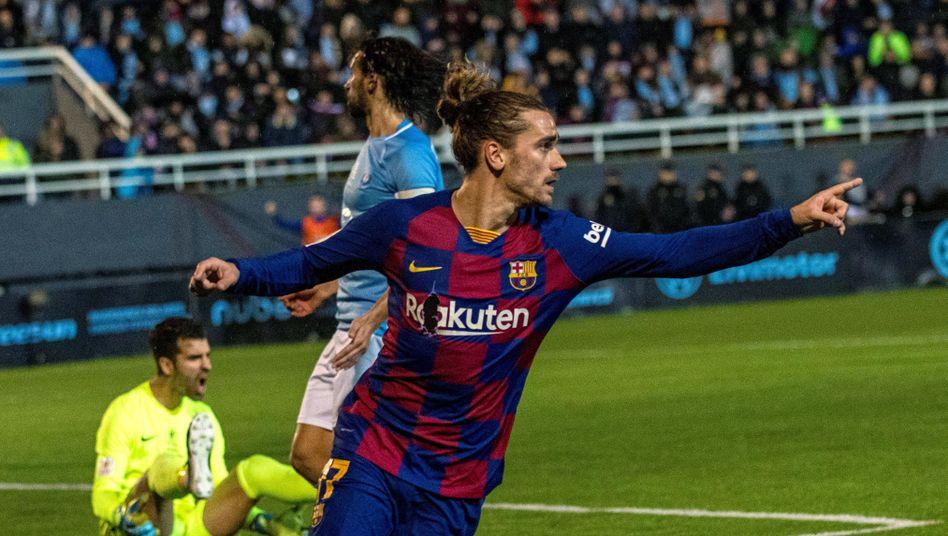 Weltmeister Antoine Griezmann rettete Barça einen späten Sieg auf Ibiza