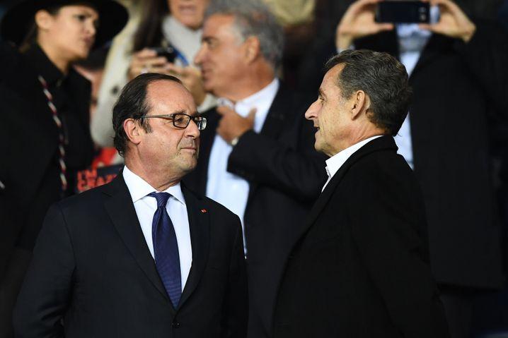 François Hollande (l.), Nicolas Sarkozy